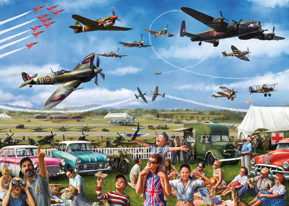 Family Airshow Planes Jigsaw Puzzle