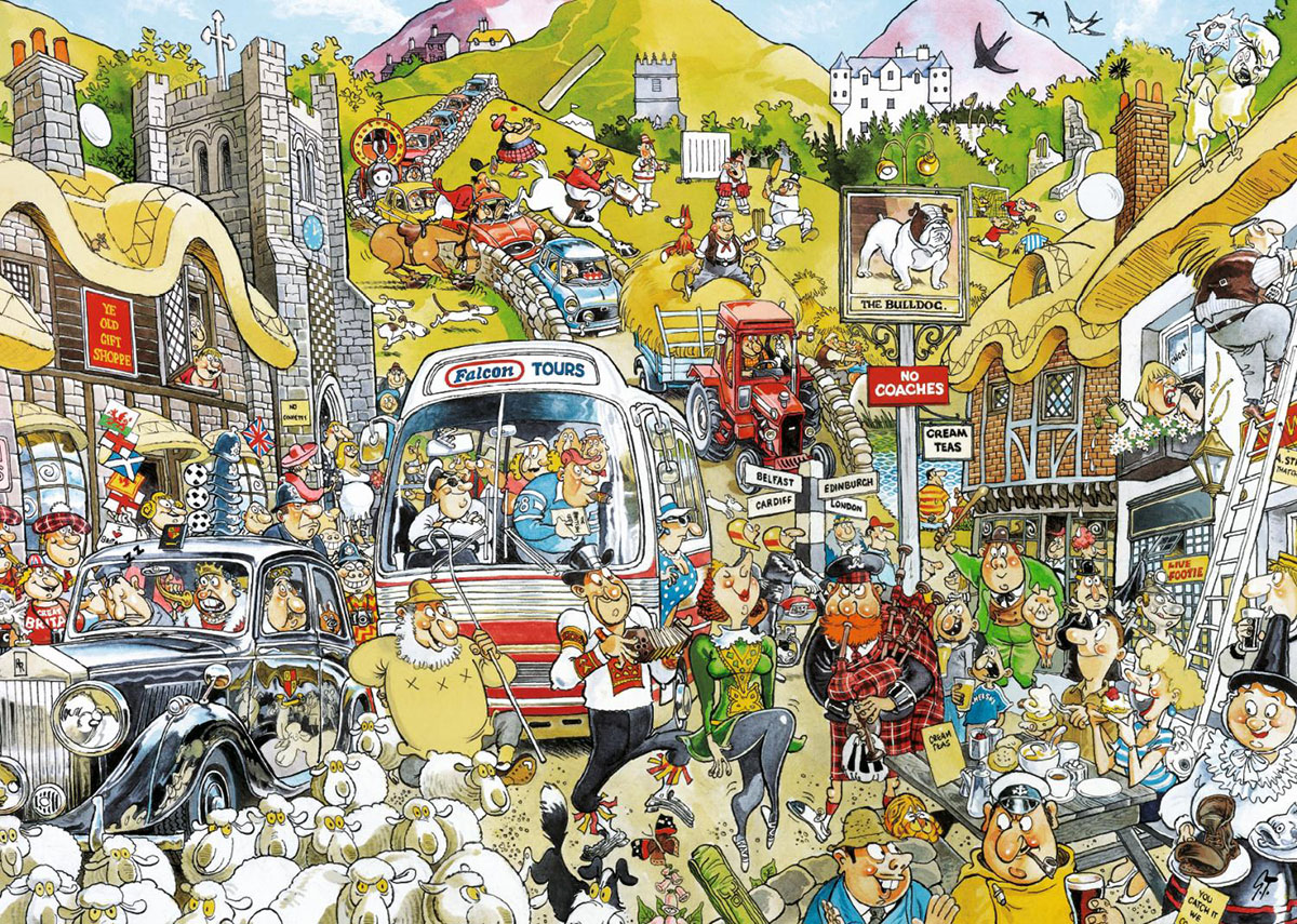 Britain United Cartoons Jigsaw Puzzle