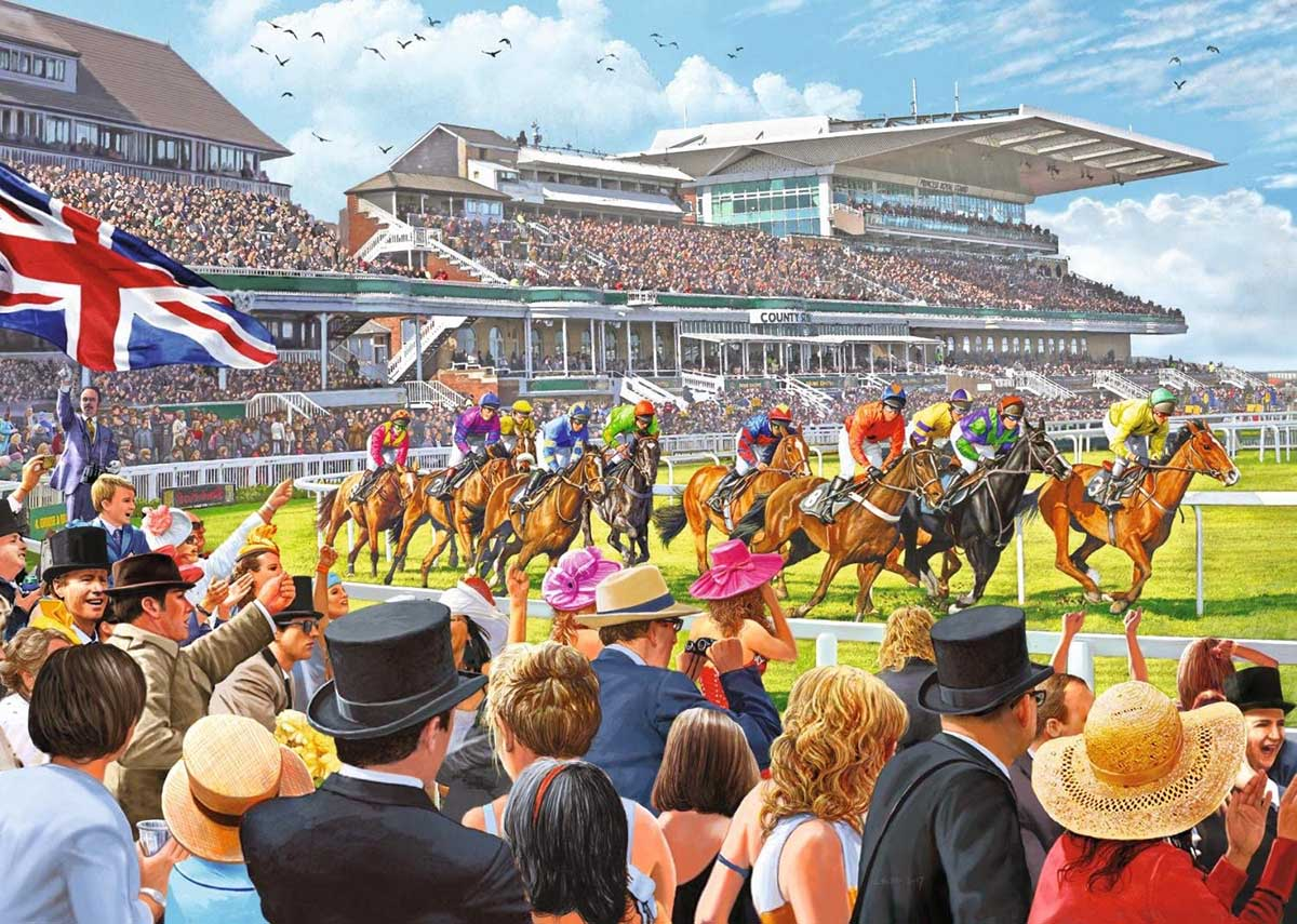 Racing to the Finish Horses Jigsaw Puzzle