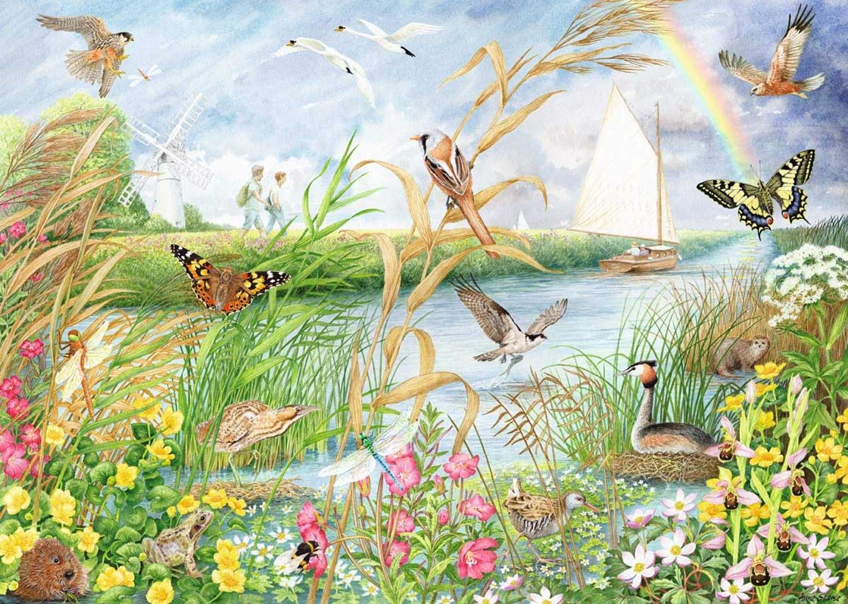 Norfold Broads Birds Jigsaw Puzzle