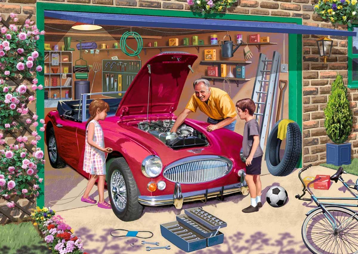 Grandad's Garage Nostalgic / Retro Jigsaw Puzzle