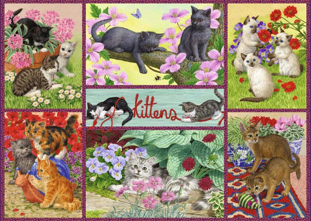 Playful Kittens Cats Jigsaw Puzzle