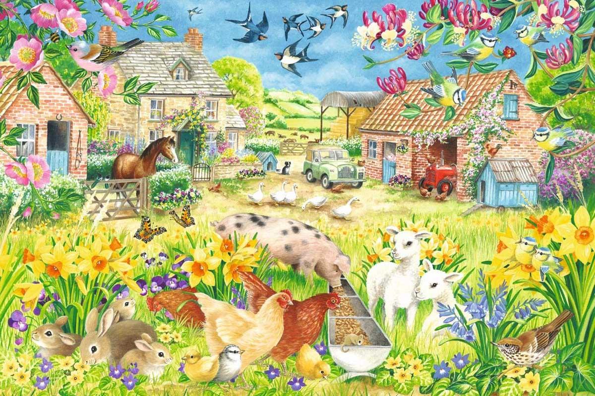 Lambing Season Farm Animals Jigsaw Puzzle