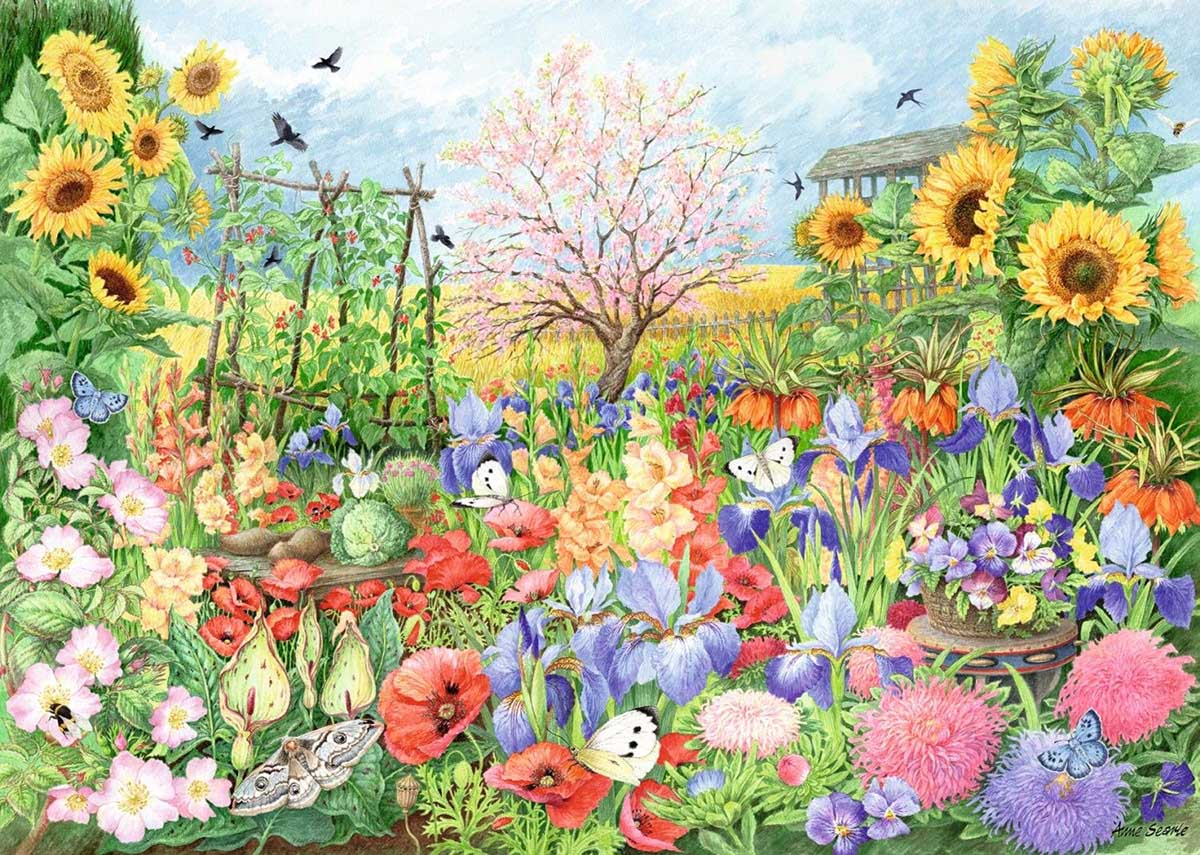 Sunflower Garden Flowers Jigsaw Puzzle