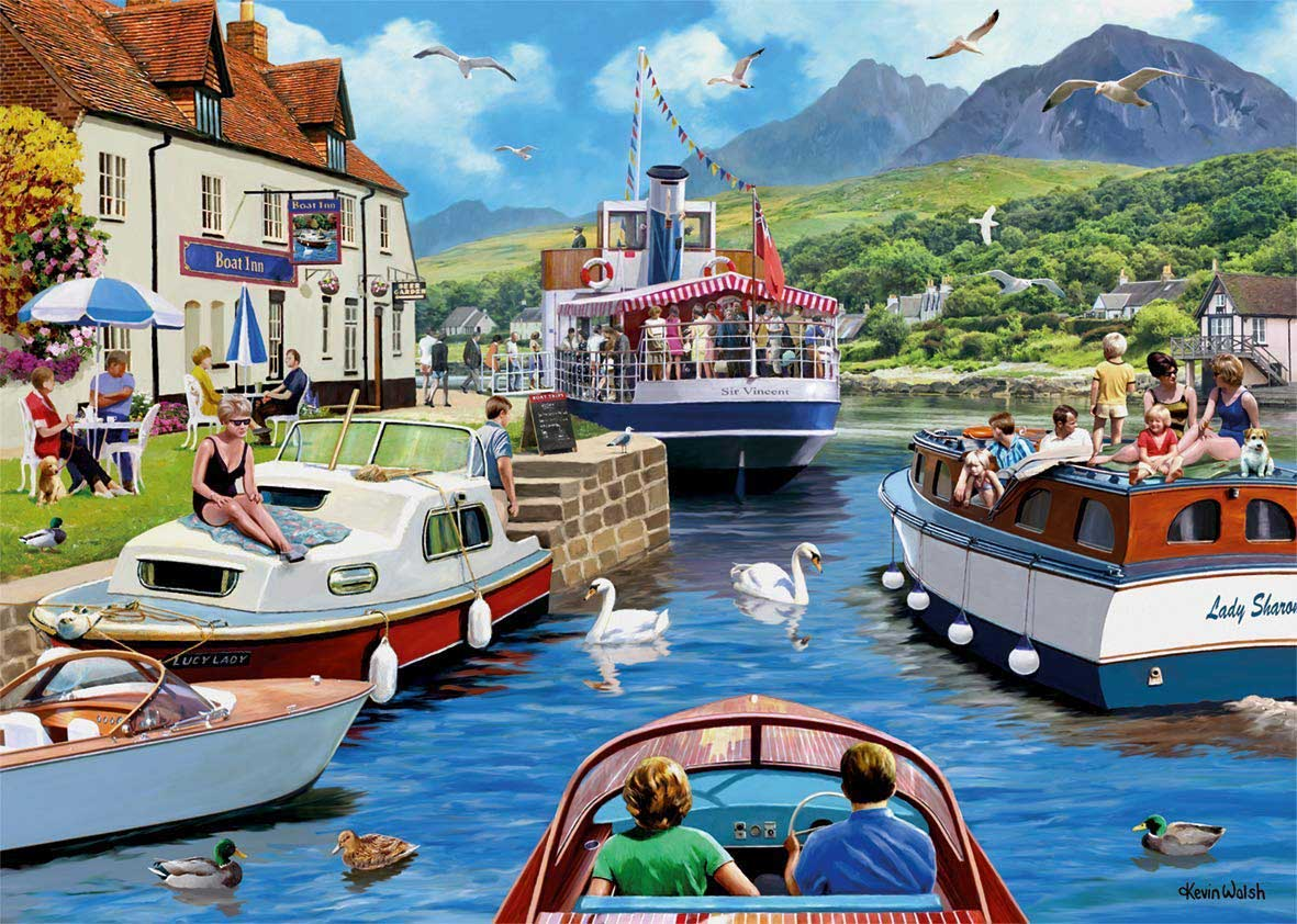 A Day on the River Boats Jigsaw Puzzle