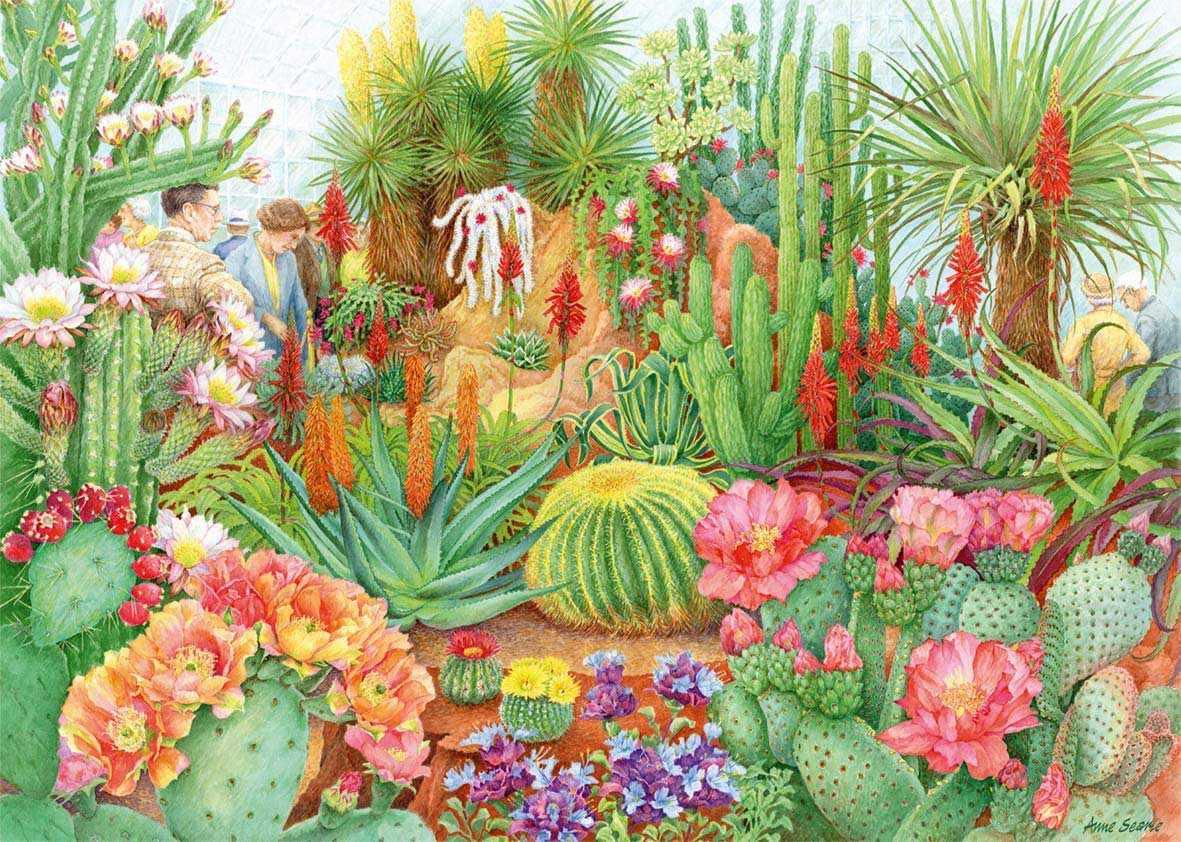 The Flower Show: Desert Plants Flowers Jigsaw Puzzle