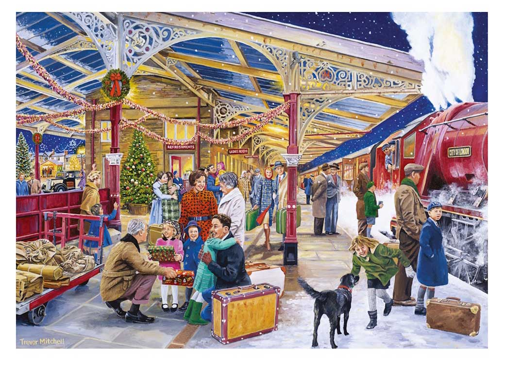 Coming Home for Christmas Trains Jigsaw Puzzle