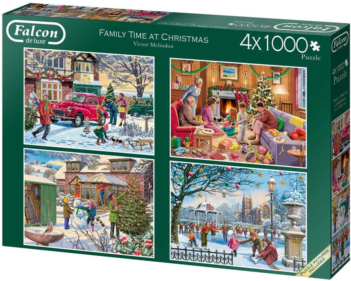 Family Time at Christmas Christmas Jigsaw Puzzle