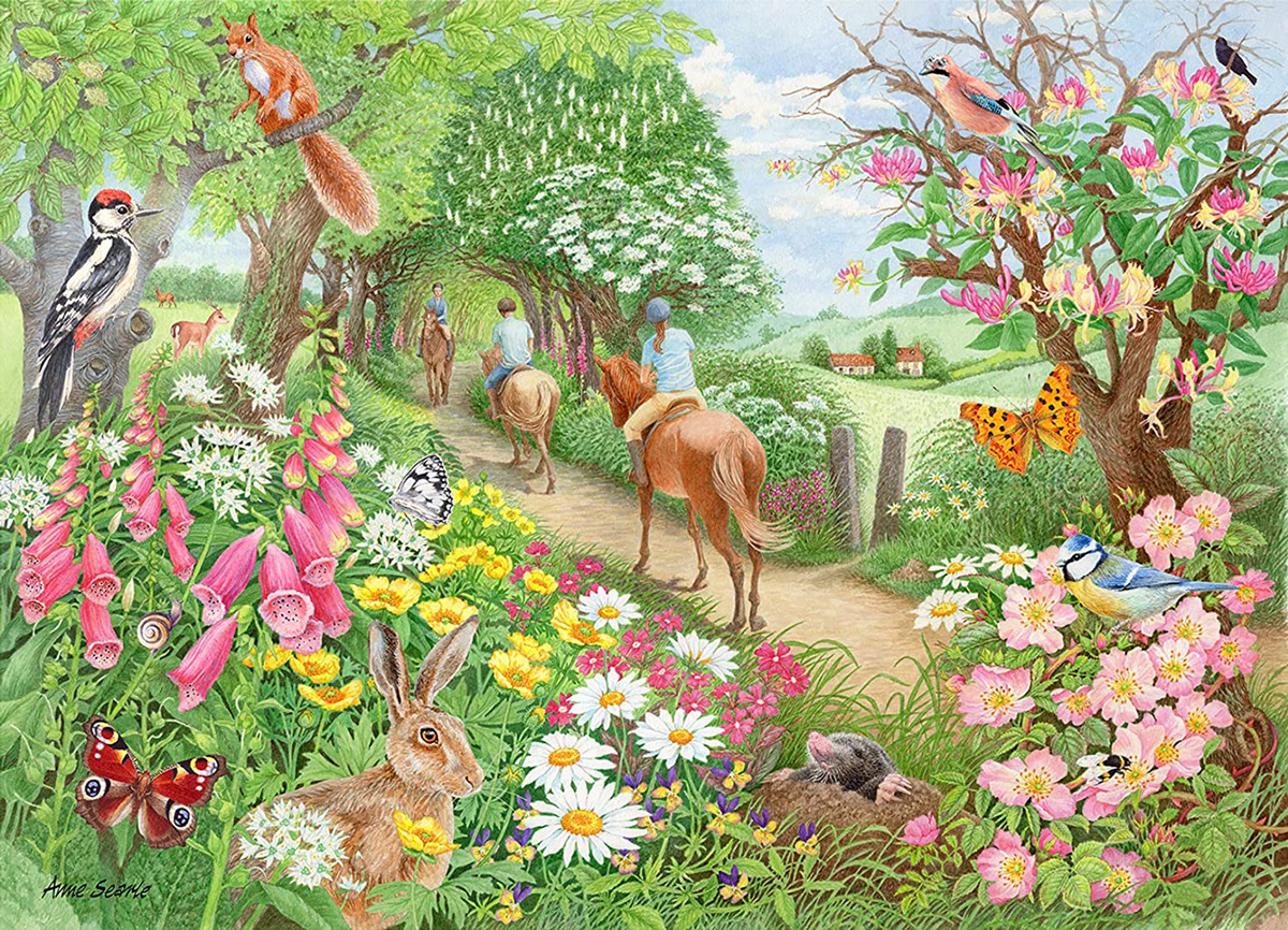 An Afternoon Hack Horses Jigsaw Puzzle