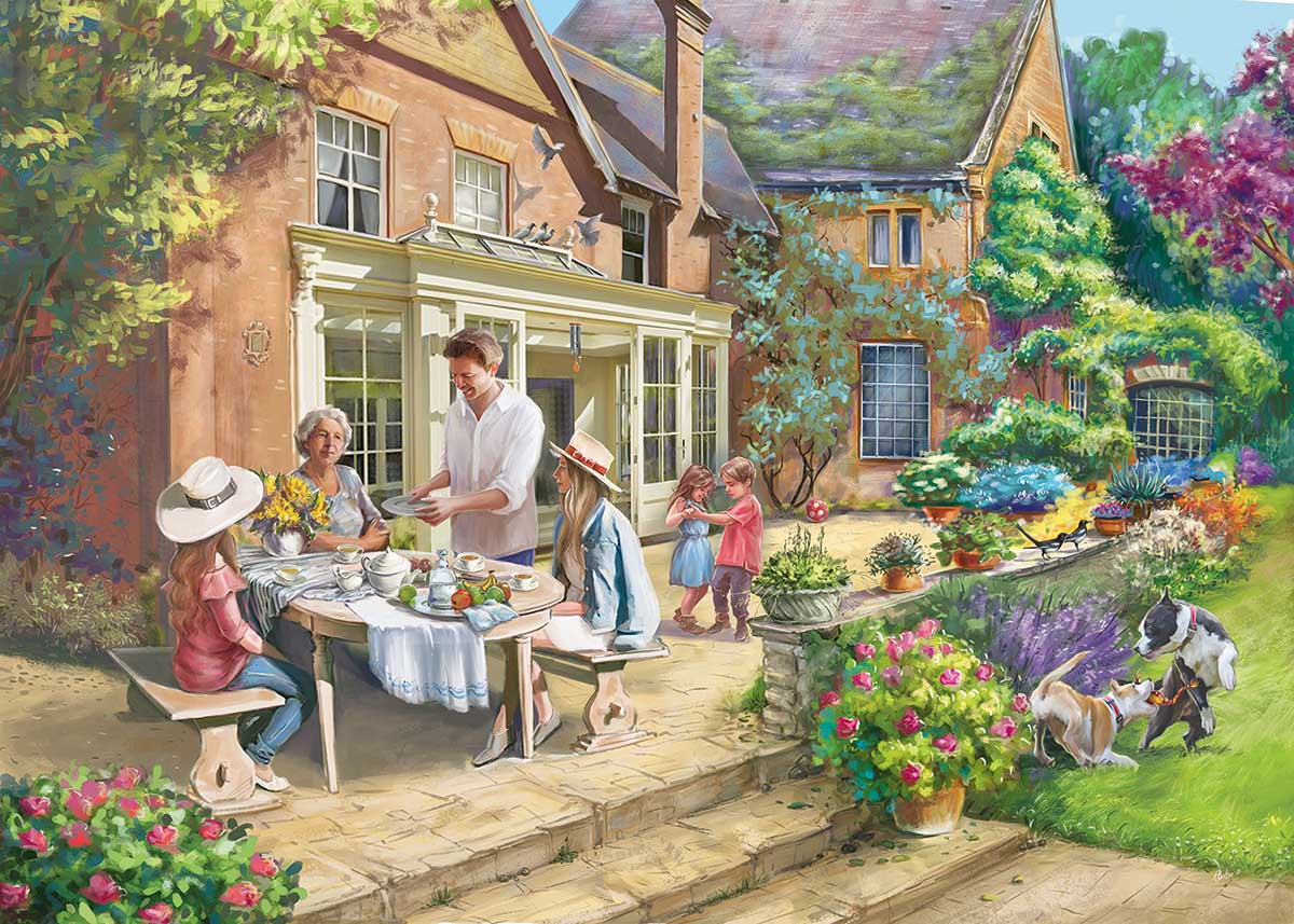Country House Retreat Domestic Scene Jigsaw Puzzle