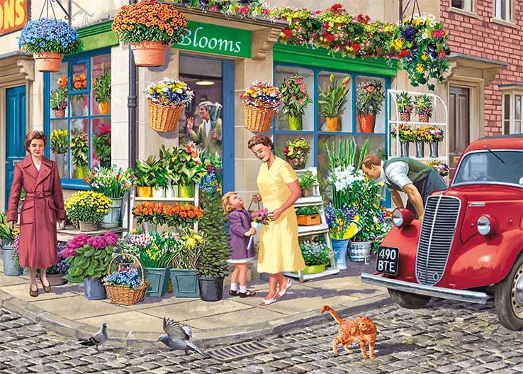 The Florist Street Scene Jigsaw Puzzle