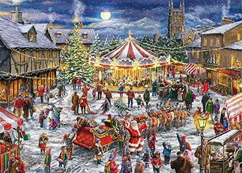 The Christmas Carousel Christmas Jigsaw Puzzle