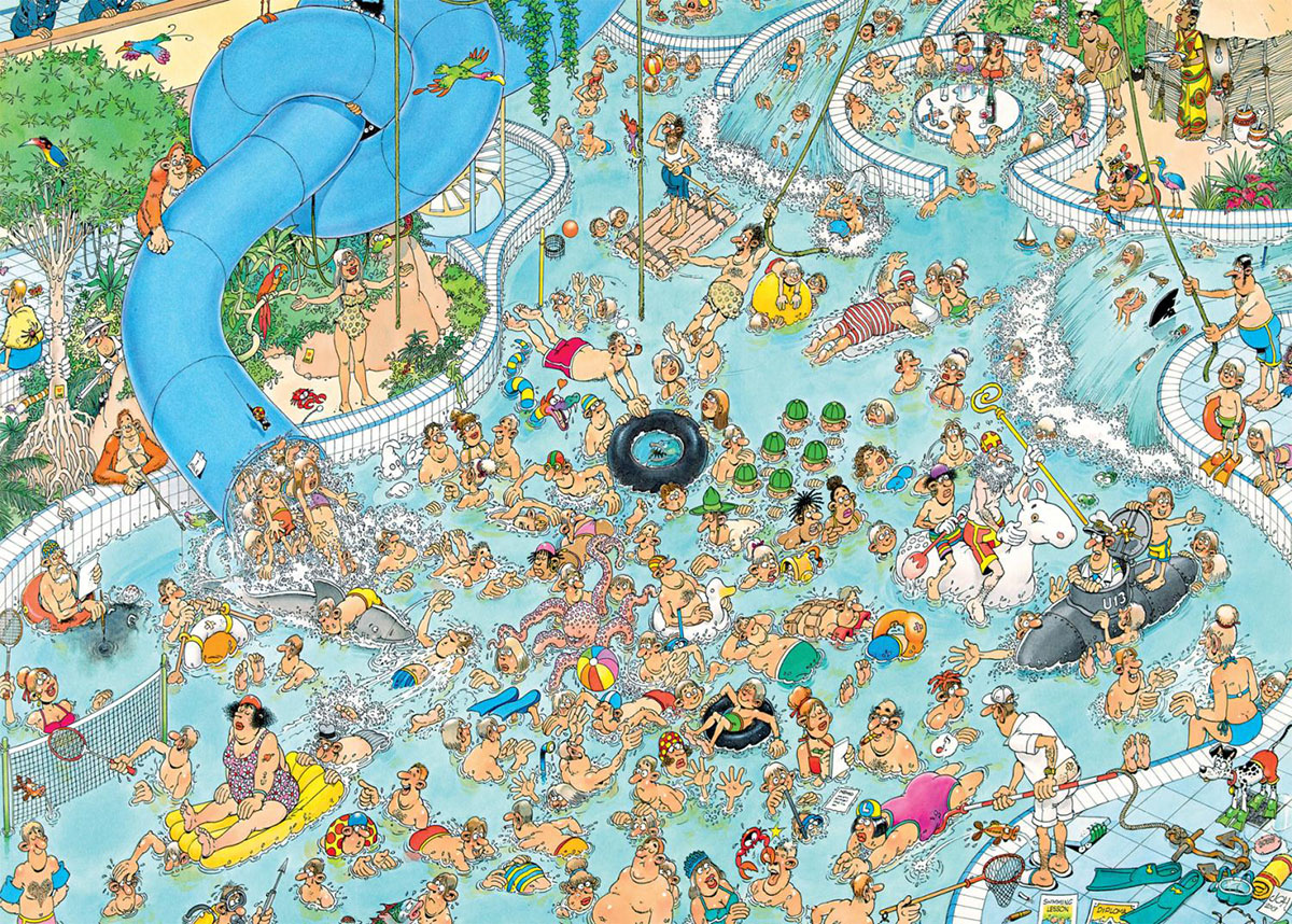 Whacky Water World! Cartoons Jigsaw Puzzle