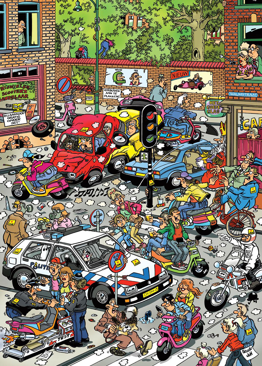 Scooter Scramble Cartoons Jigsaw Puzzle