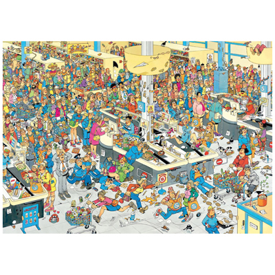 Queued Up! Cartoons Jigsaw Puzzle