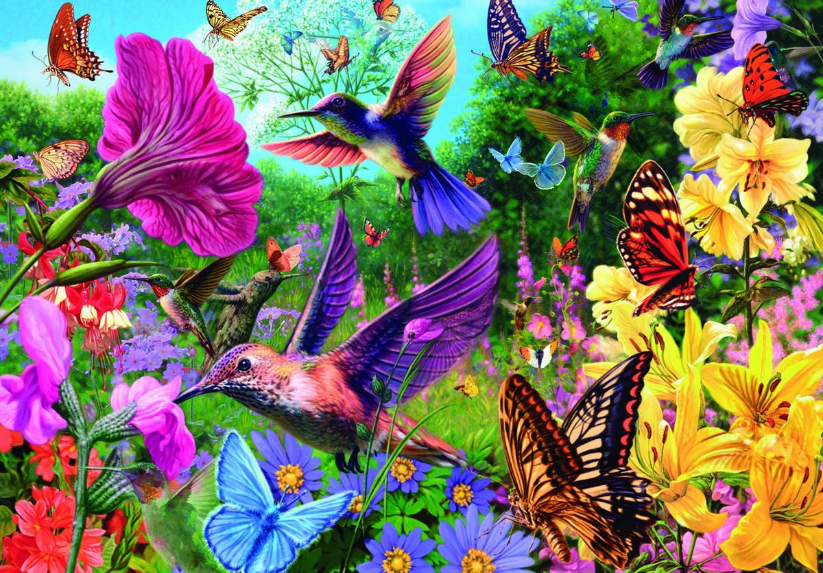 Hummingbird Garden Jigsaw Puzzle PuzzleWarehousecom