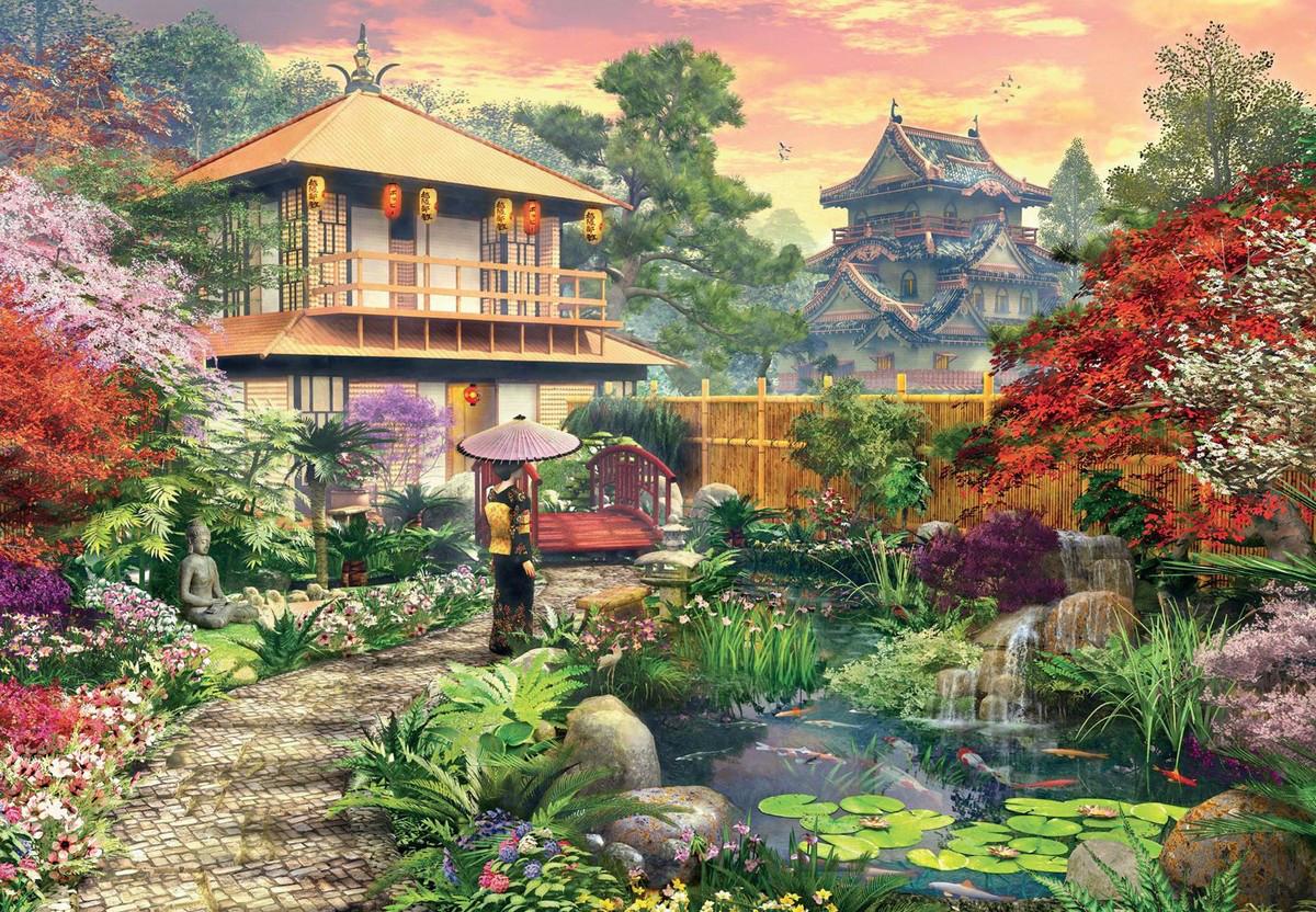 Japanese Garden Jigsaw Puzzle PuzzleWarehousecom