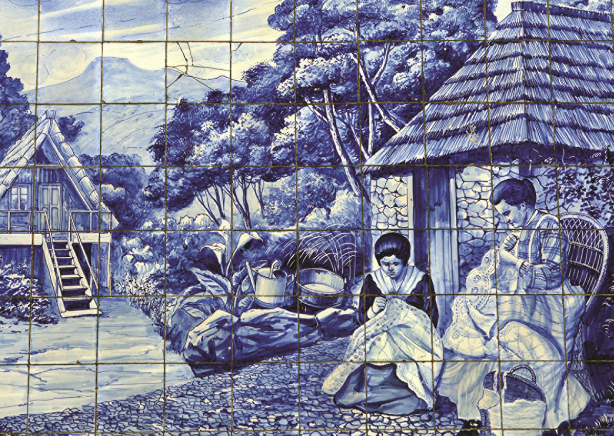 Portugese Tiles from Funchal Countryside Jigsaw Puzzle