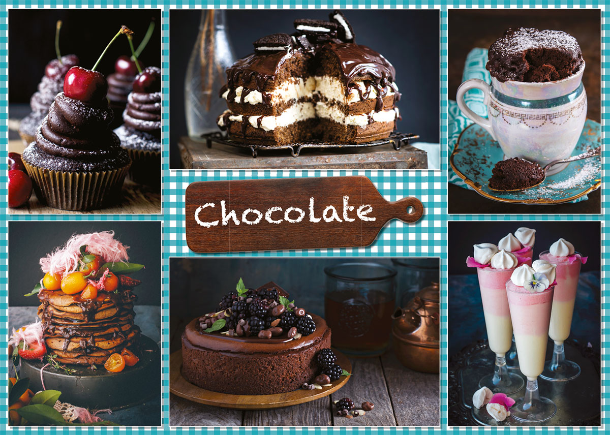 Chocolate + 6 recipes Sweets Jigsaw Puzzle