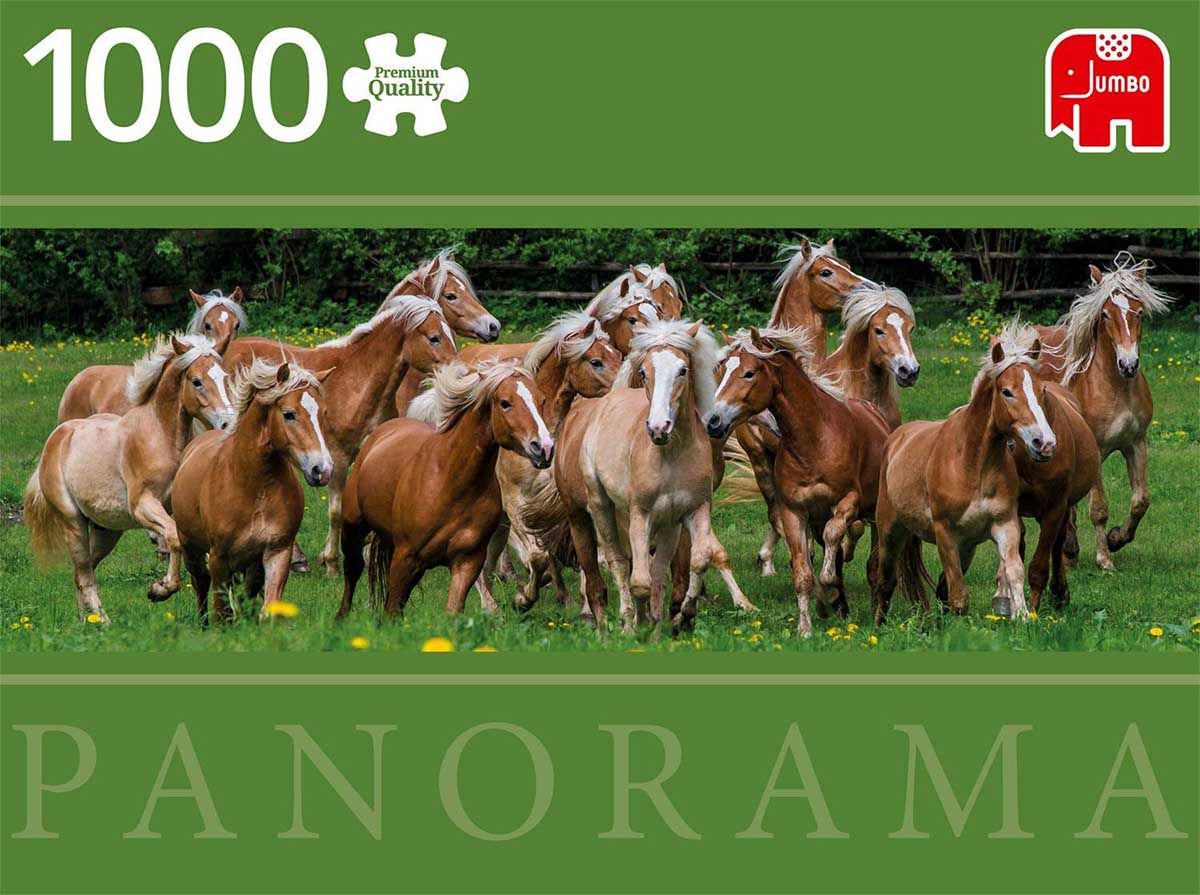 Haflinger Horses, Pano Horses Jigsaw Puzzle