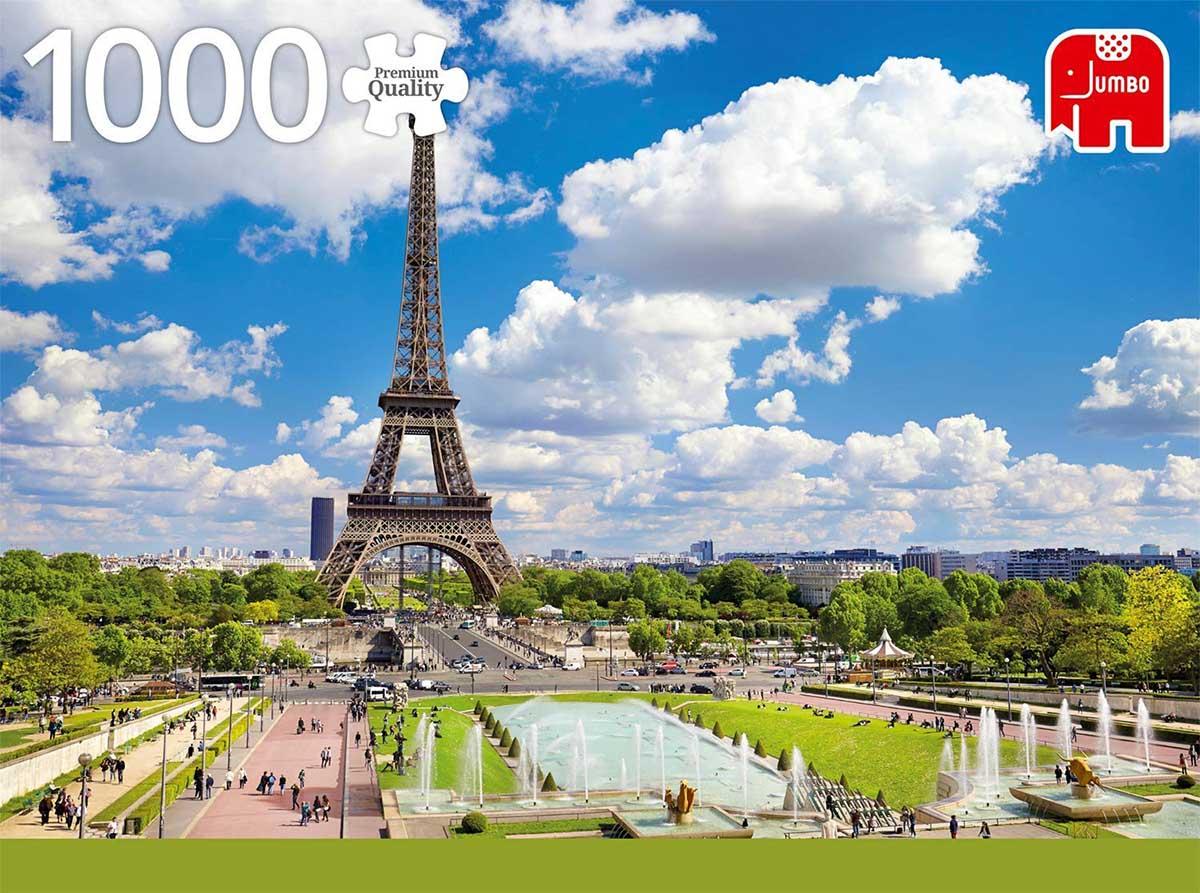 Eiffeltower in Summer, Paris Summer Jigsaw Puzzle