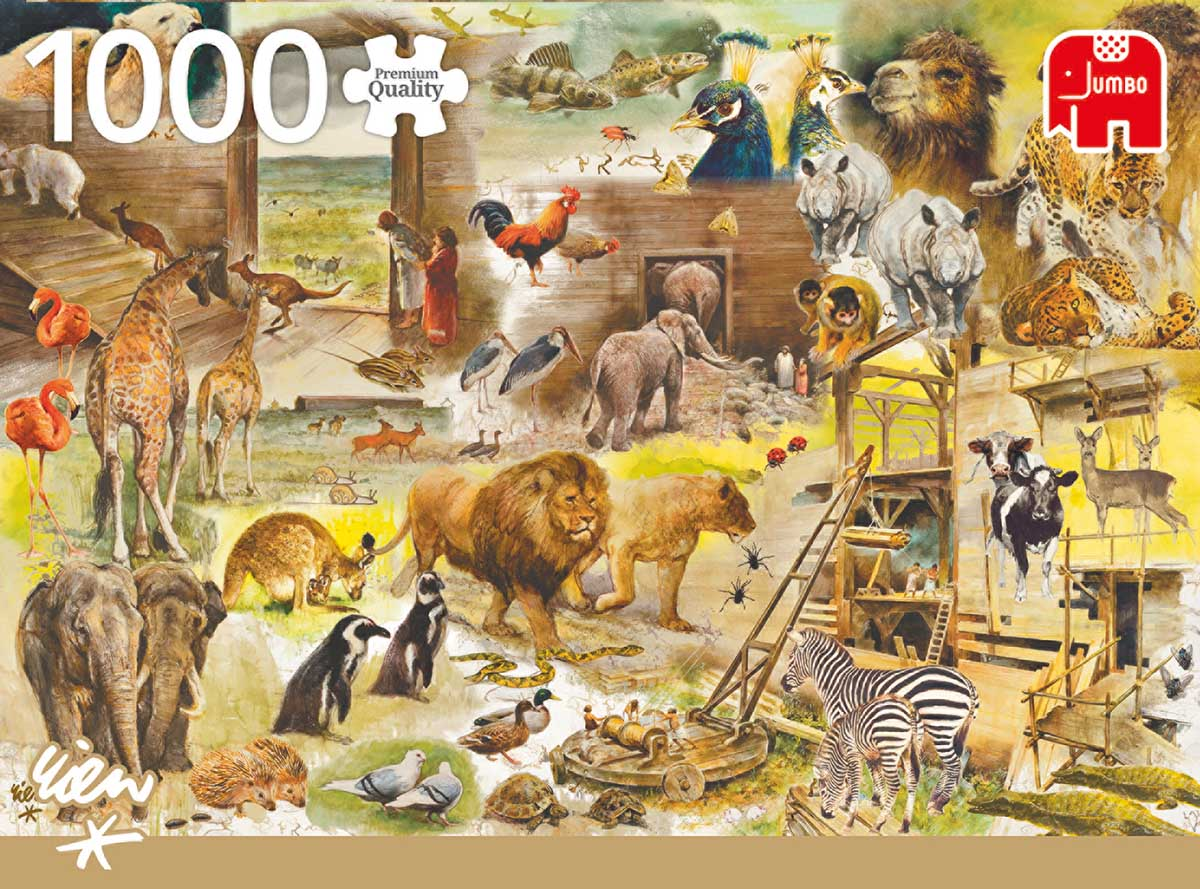 Building Noah's Arc Animals Jigsaw Puzzle