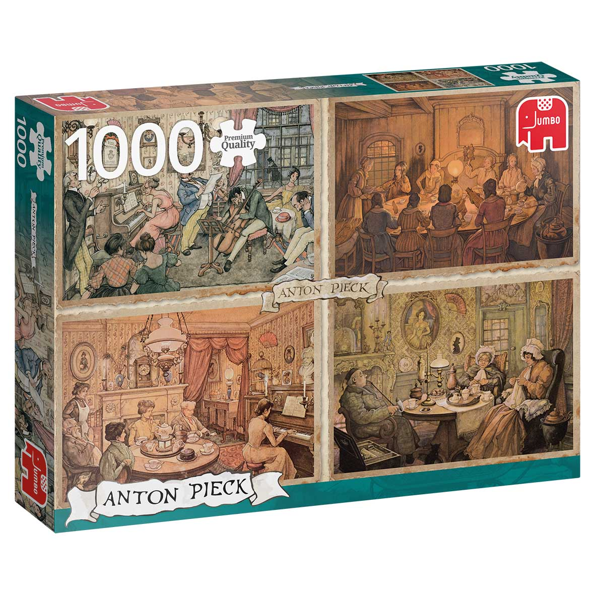 Living Room Entertainment Domestic Scene Jigsaw Puzzle