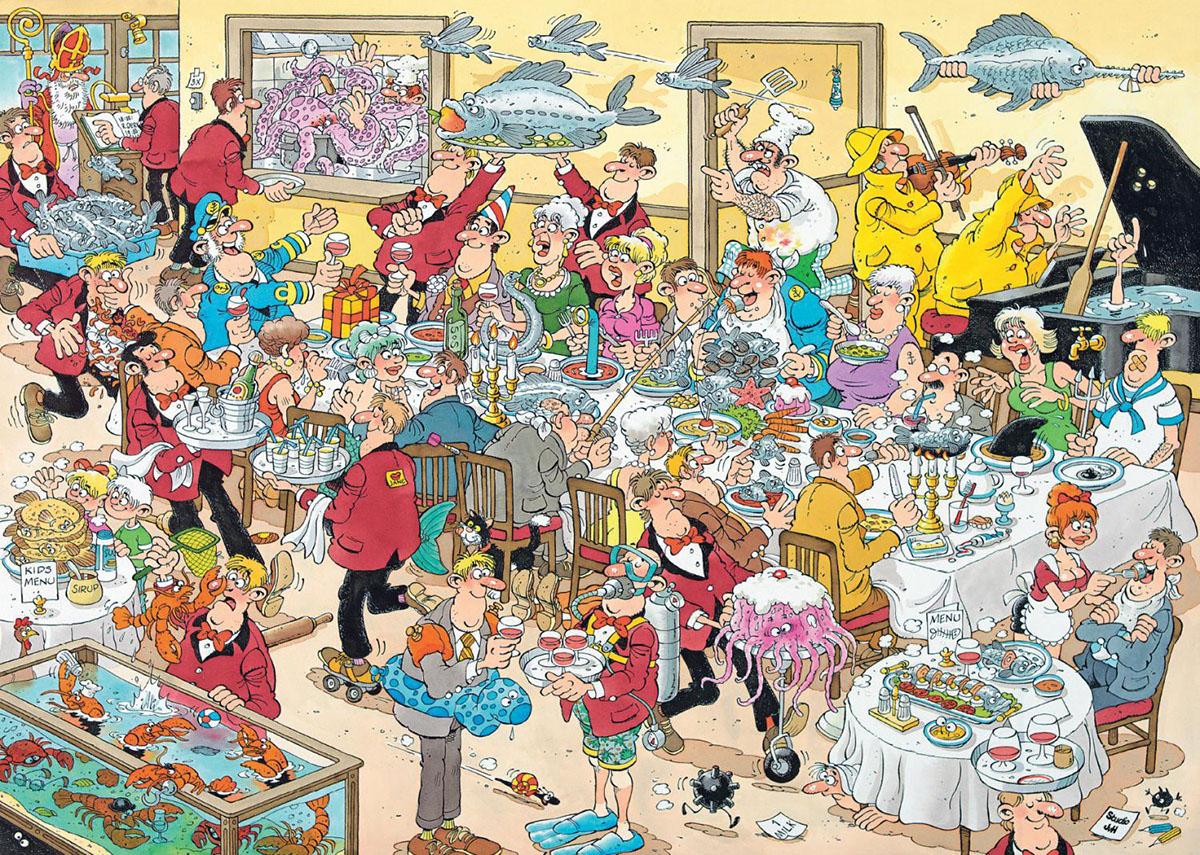 Food Frenzy Cartoons Jigsaw Puzzle