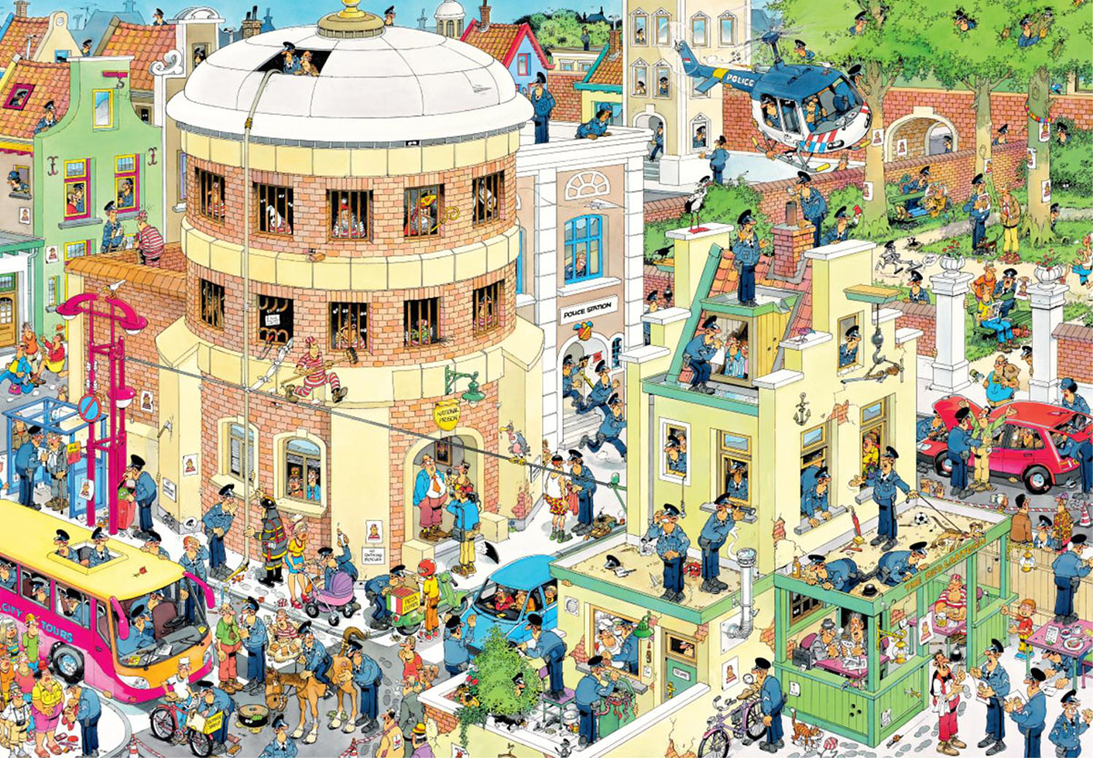 The Escape Cartoons Jigsaw Puzzle