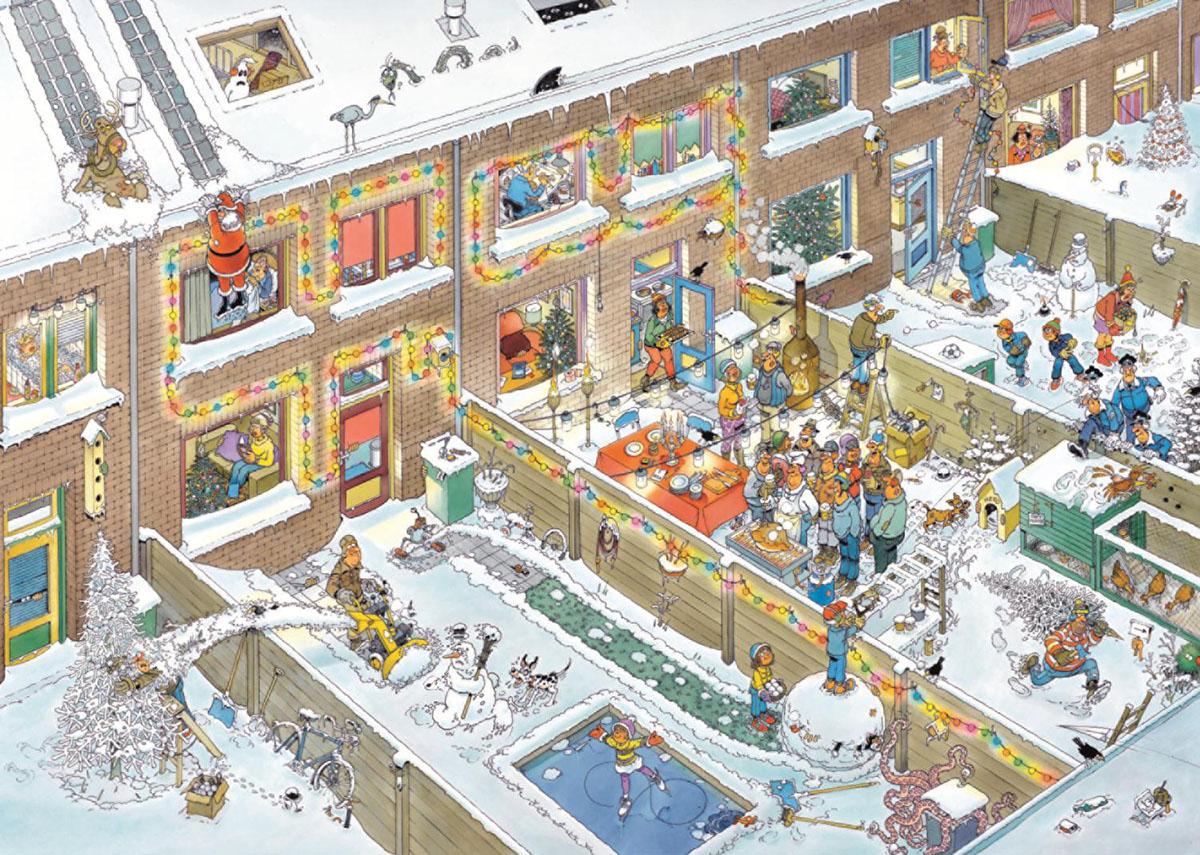 Christmas Eve Cartoons Jigsaw Puzzle