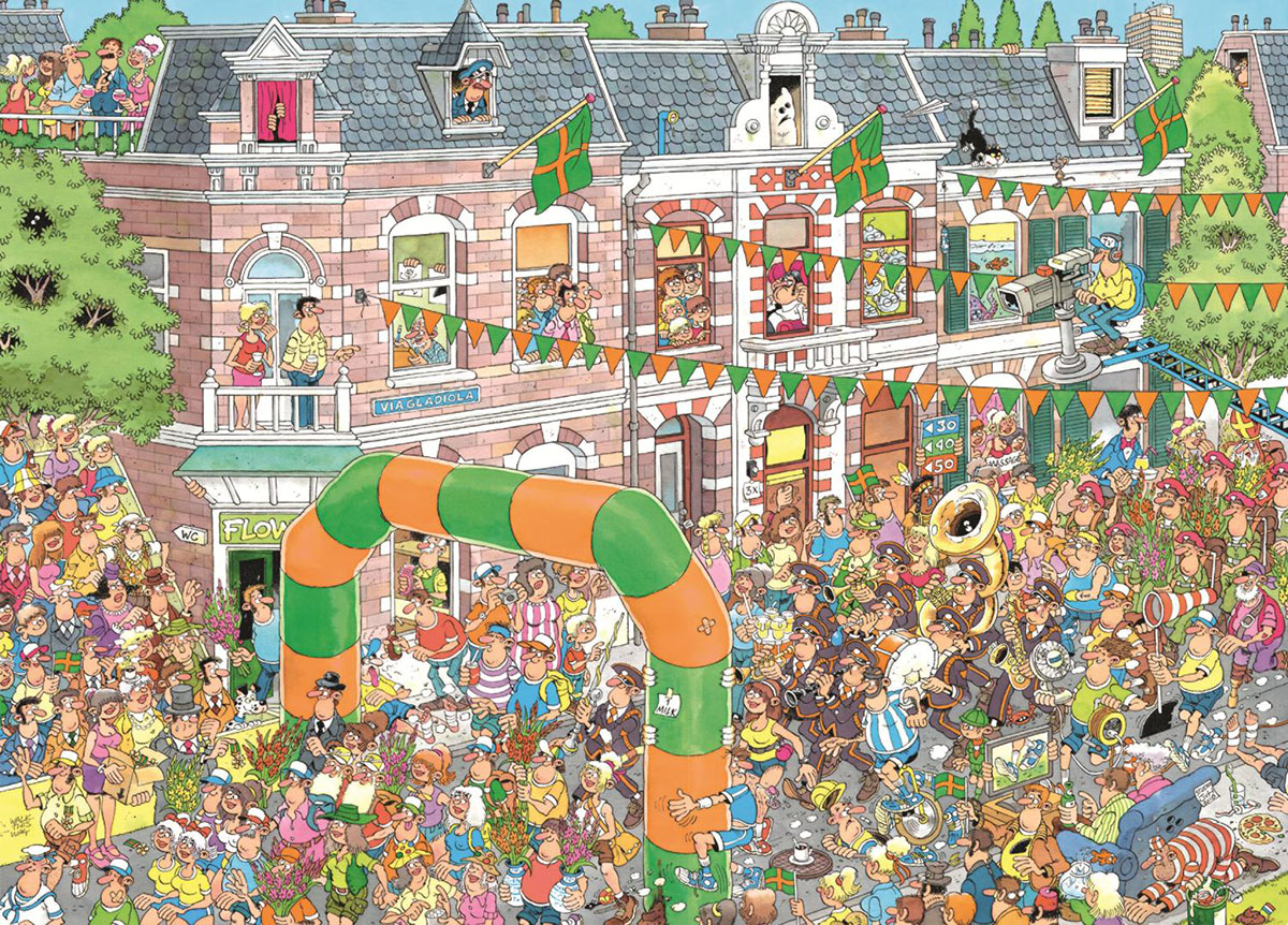 Nijmegen Marches Cartoons Jigsaw Puzzle