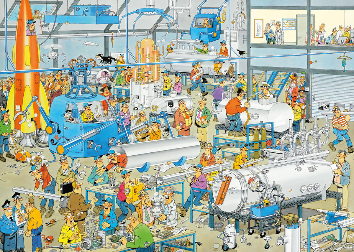 Technical Highlights Cartoons Jigsaw Puzzle