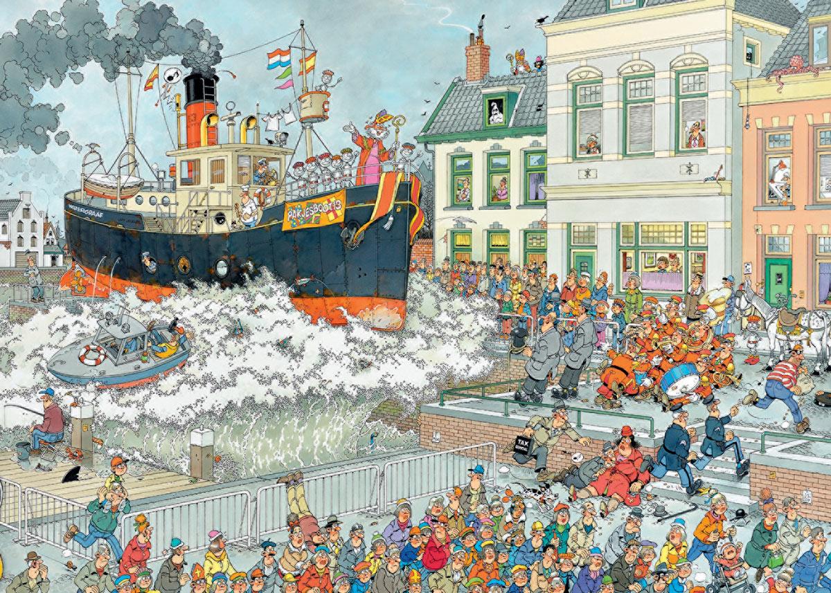 St. Nicolas Parade Cartoons Jigsaw Puzzle