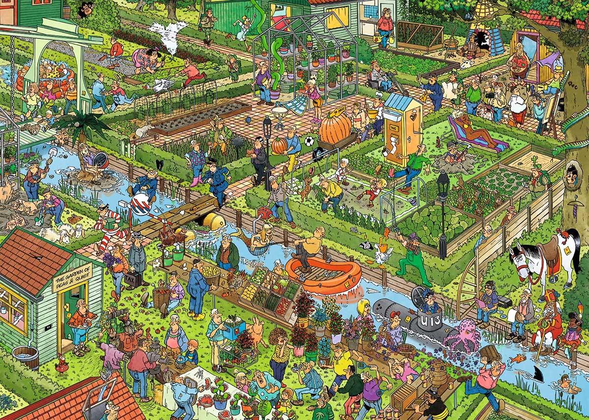 The Vegetable Garden Garden Jigsaw Puzzle
