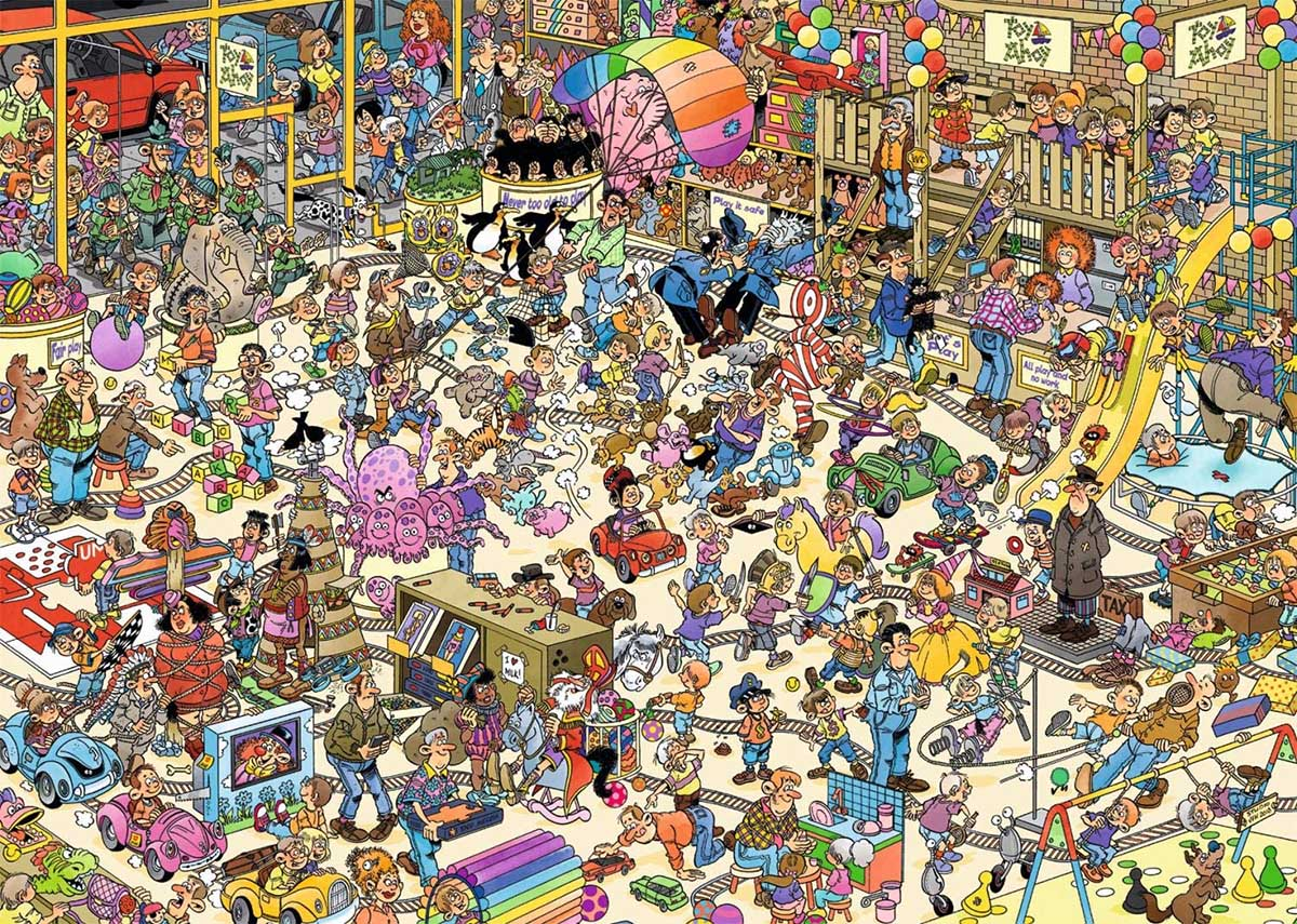 Toy Shop People Jigsaw Puzzle