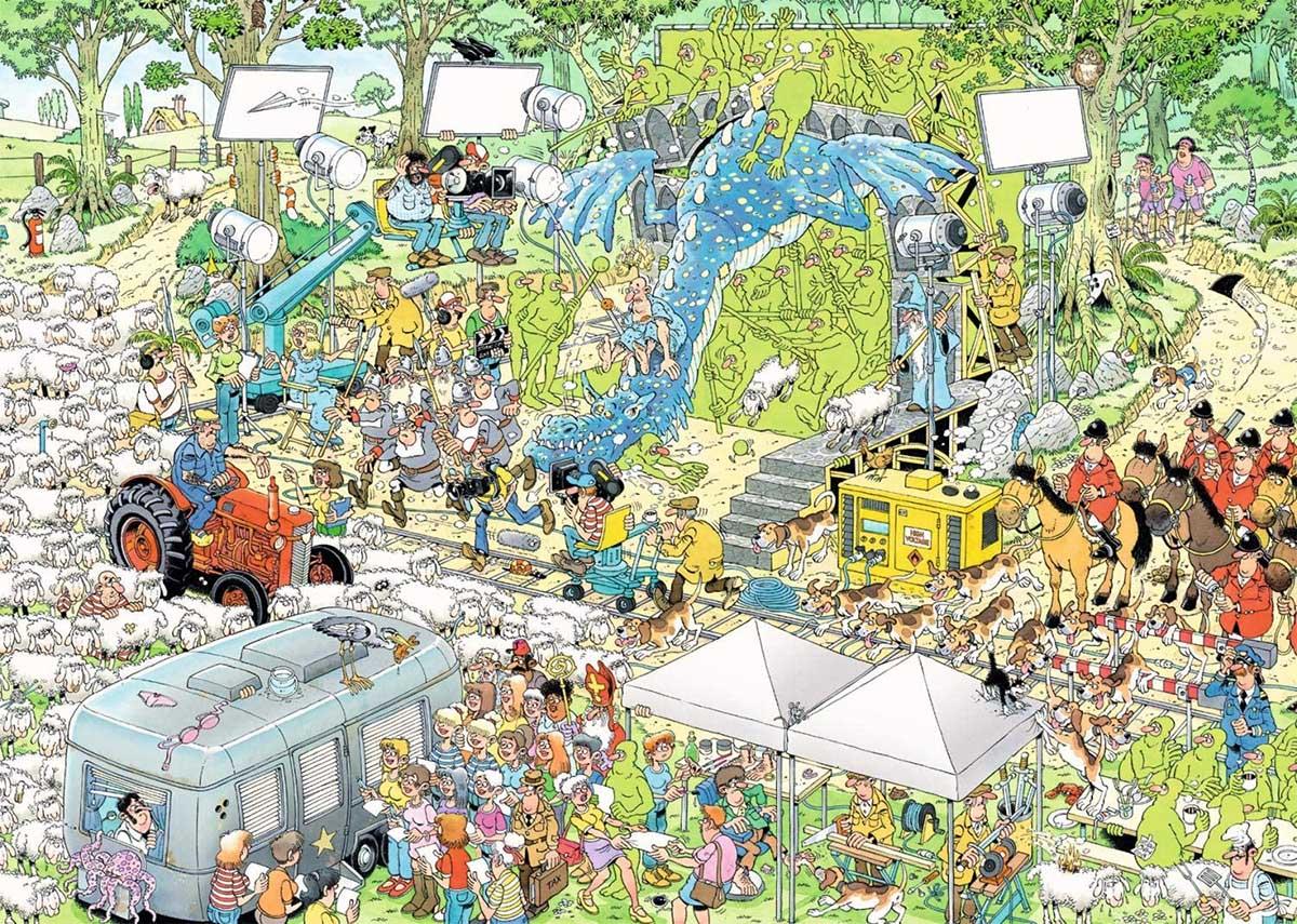 The Film Set Wasgij Jigsaw Puzzle