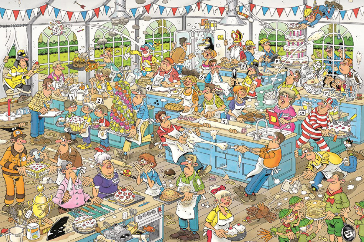 Clash of the Bakers Cartoons Jigsaw Puzzle