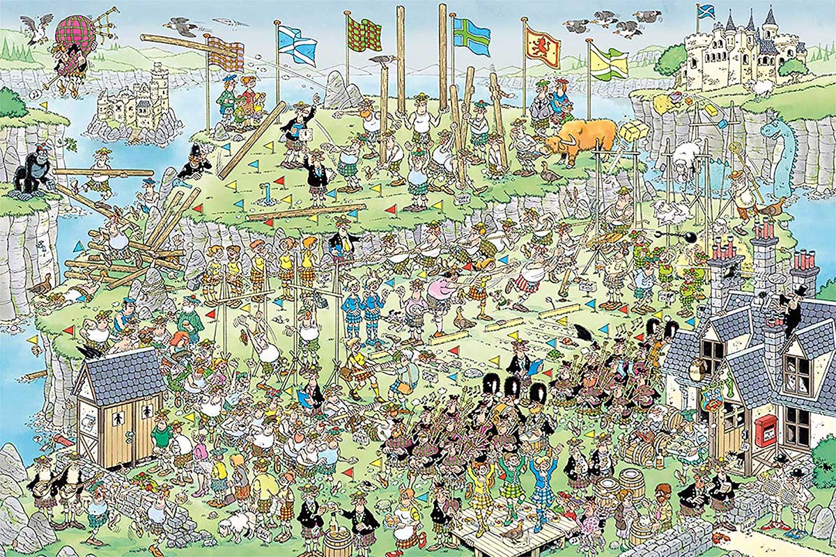 Highland Games Travel Jigsaw Puzzle