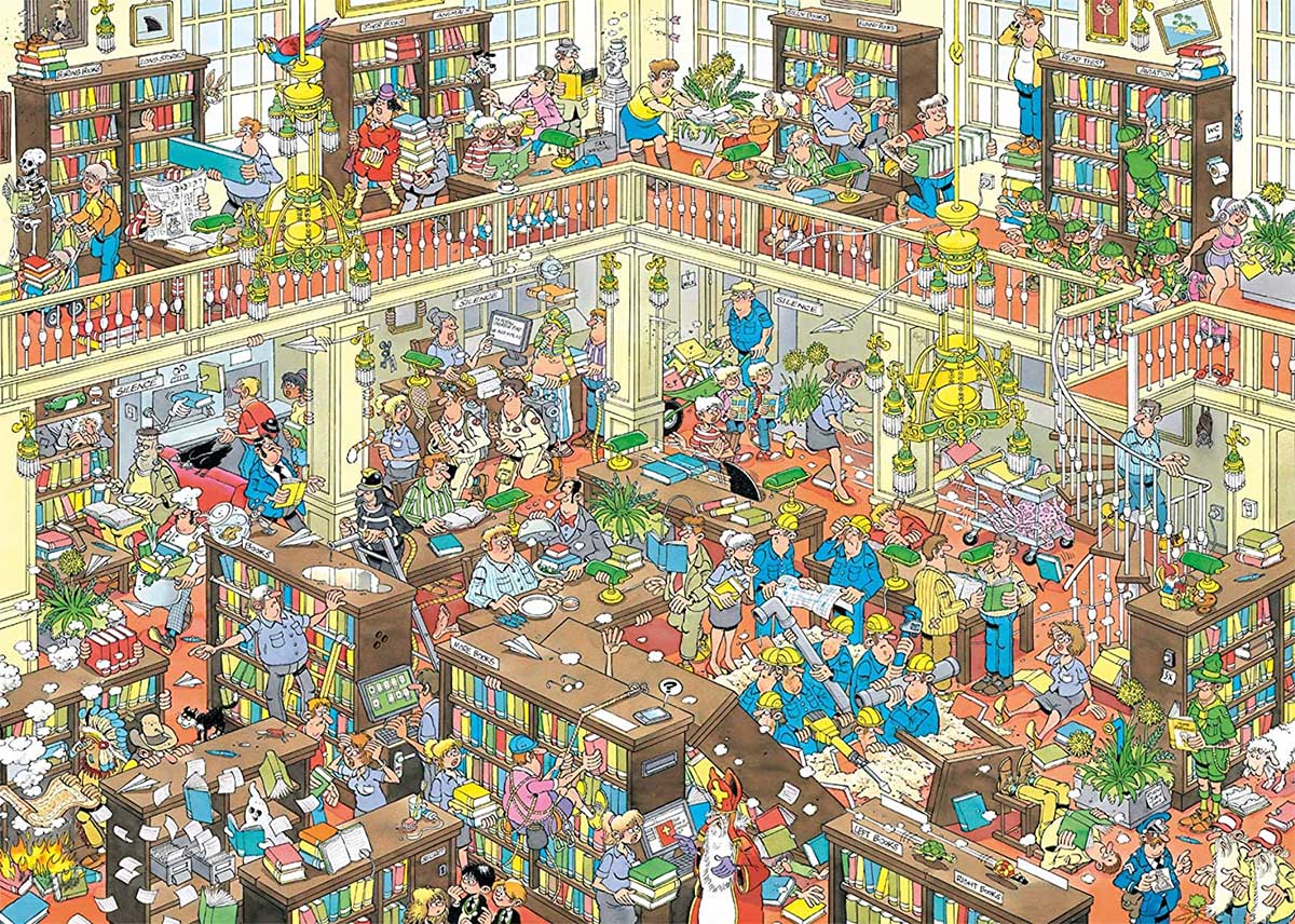 The Library Graphics / Illustration Jigsaw Puzzle