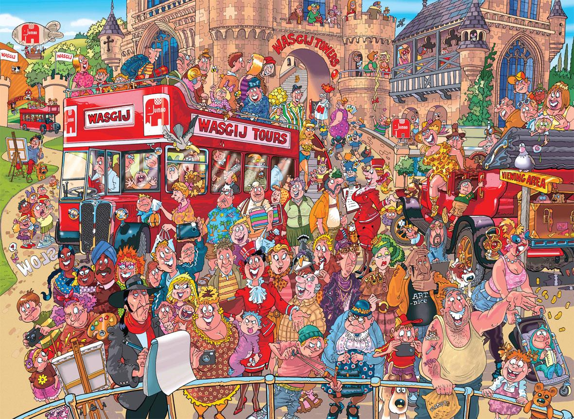 Wasgij Original #22: Studio Tour People Jigsaw Puzzle