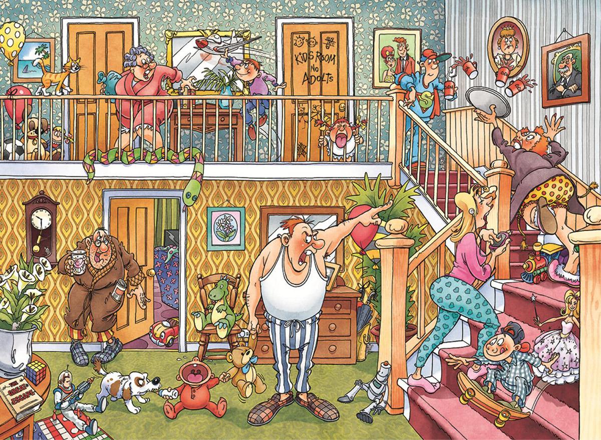 Wasgij Imagine 3: Slumber Party Everyday Objects Jigsaw Puzzle