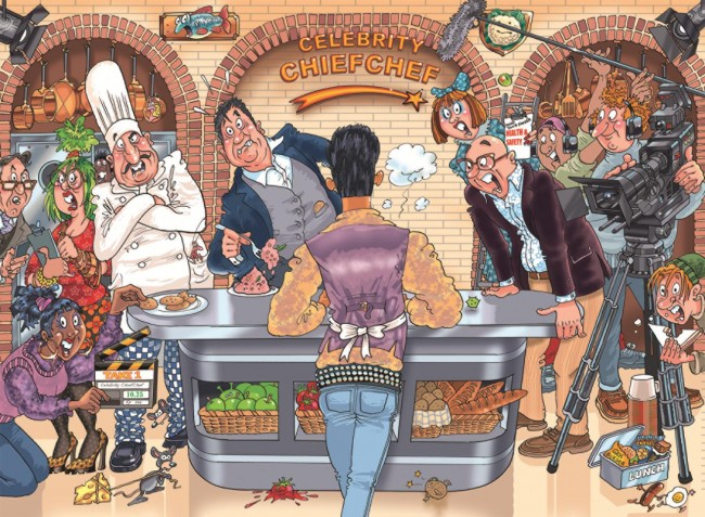 WASGIJ Original 26, Celebrity Chief Chef Cartoons Jigsaw Puzzle