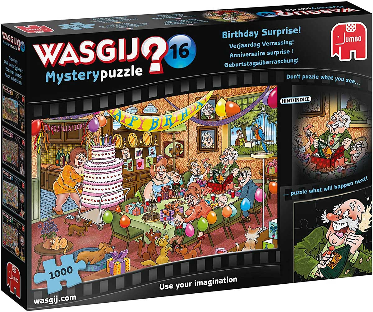 Wasgij Mystery 16: Birthday Surprise! Graphics / Illustration Jigsaw Puzzle