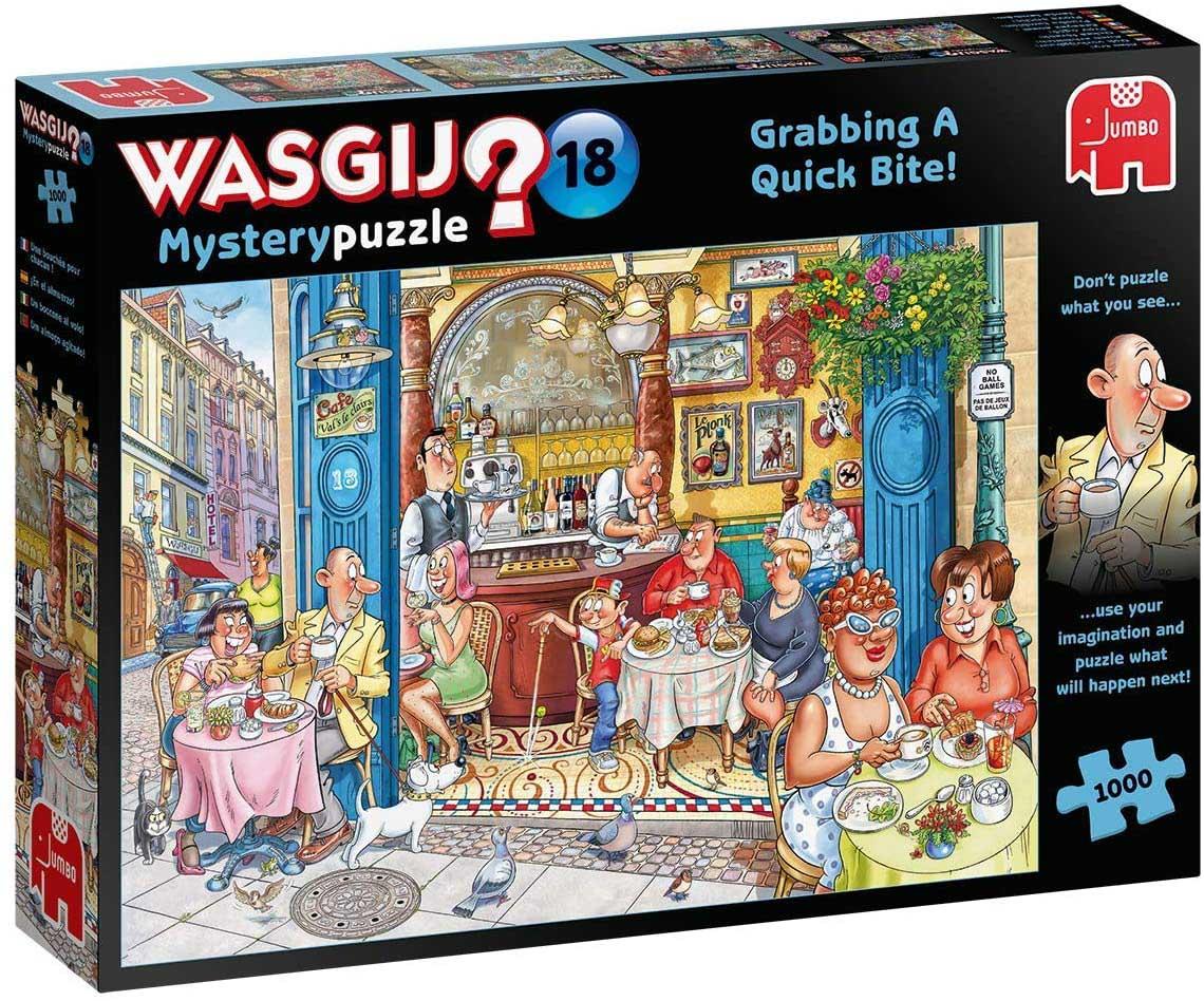 Wasgij Mystery 18: Grabbing a Quick Bite Street Scene Jigsaw Puzzle
