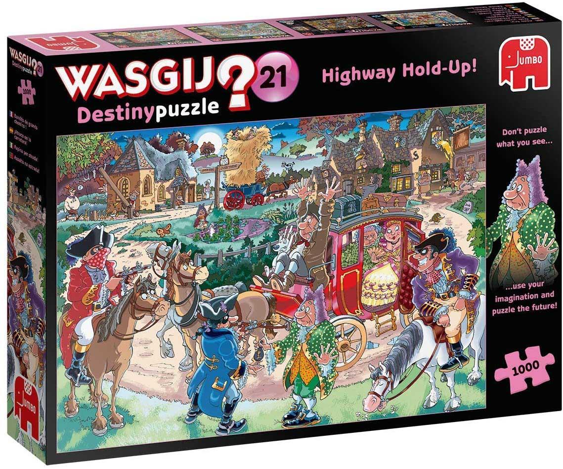 Wasgij Destiny 21: Highway Holdup Graphics / Illustration Jigsaw Puzzle