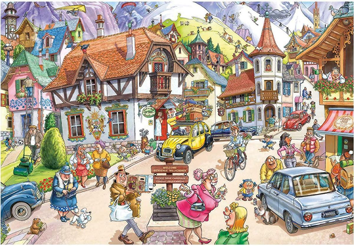 Wasgij Mystery 20: Mountain Mayhem Travel Jigsaw Puzzle