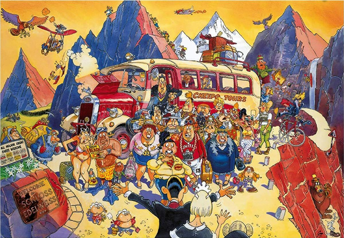 Wasgij Retro Original 5: Late Booking Travel Jigsaw Puzzle