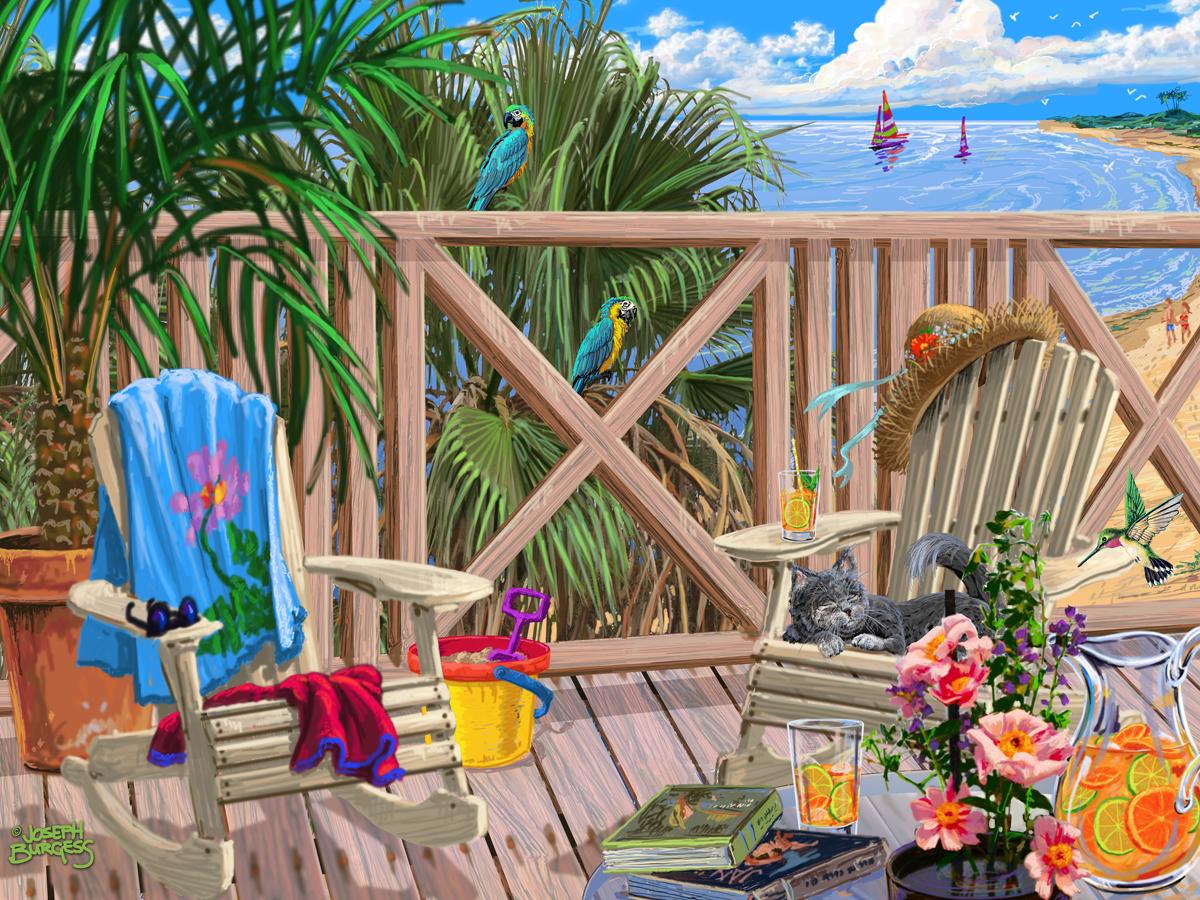 Peaceful Paradise Beach Jigsaw Puzzle