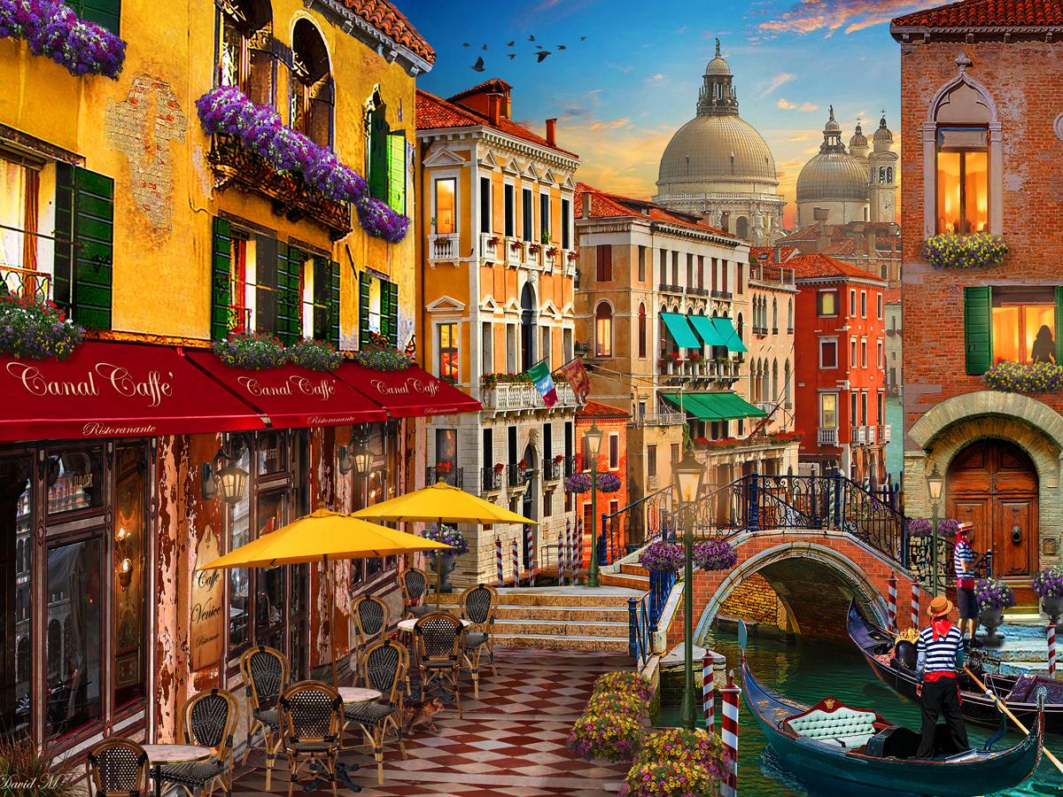 Venice Café Italy Jigsaw Puzzle