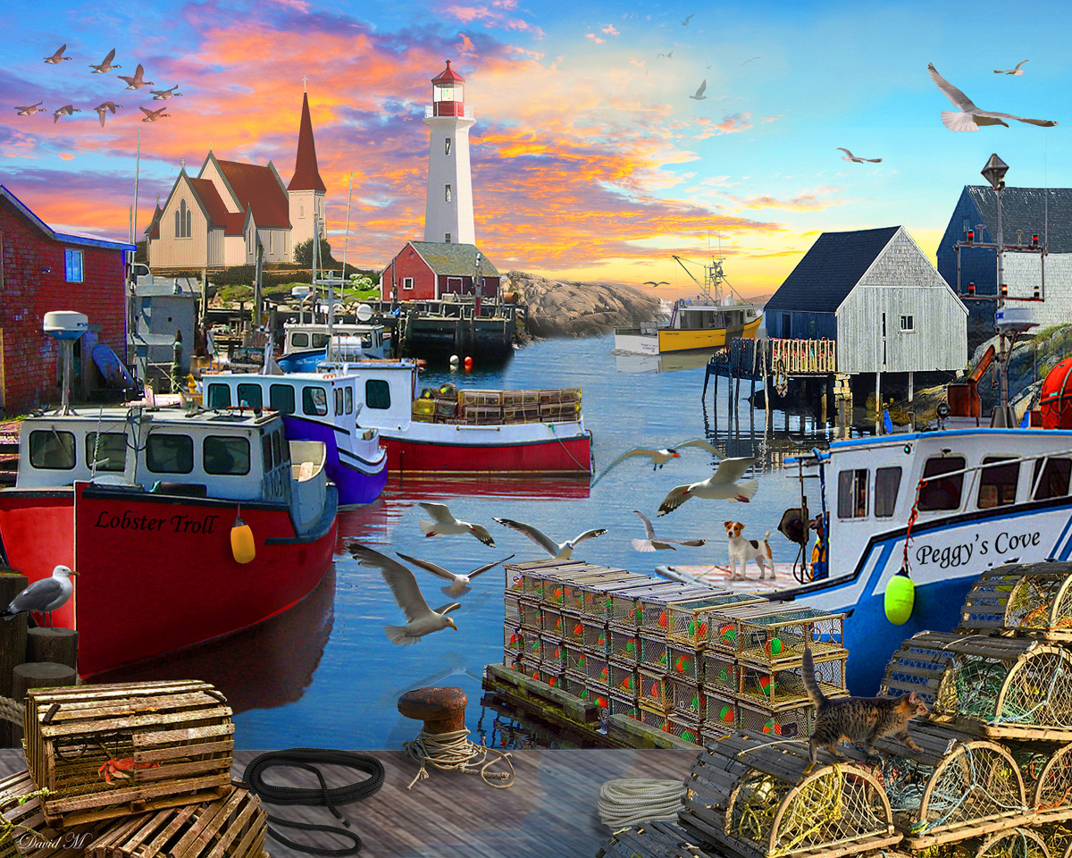 Fishing Cove - Scratch and Dent Lighthouses Jigsaw Puzzle